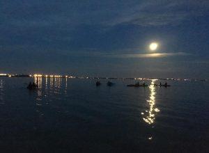 night kayaking near cocoa beach with BK Adventure