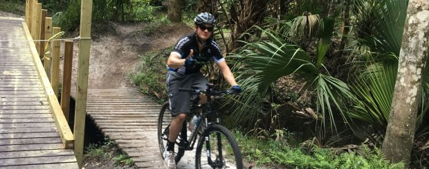 man do mountain bike in florida