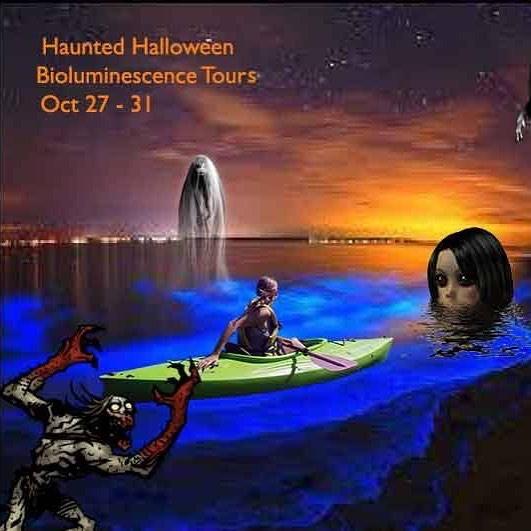 Haunted Bioluminescence Kayaking Halloween Tour Near Orlando