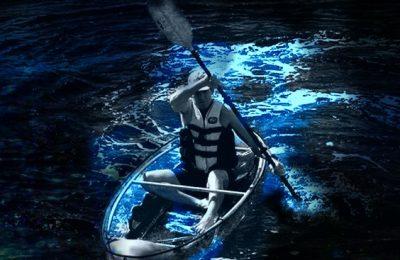 Clear Kayaking Bioluminescent