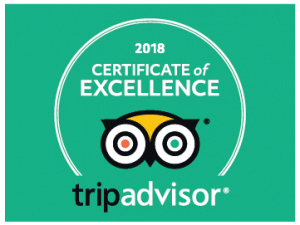 BK Adventure Trip Advisor Excellence Certificate 2018