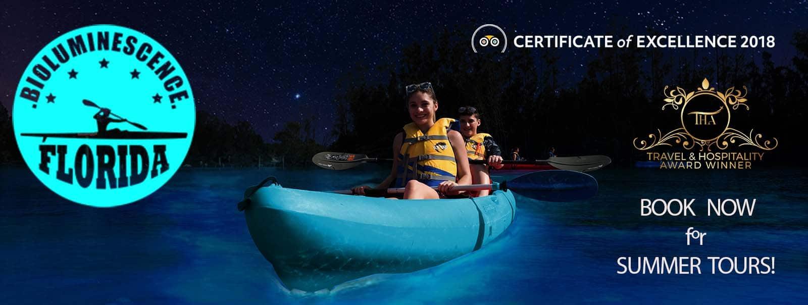 Florida Bioluminescent Kayaking Tours Near Orlando And Cocoa Beach