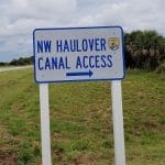 Haulover Canal Sign BK Adventure Kayak Launch