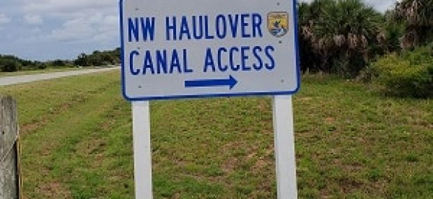 Haulover Canal Sign BK Adventure Kayak Launch